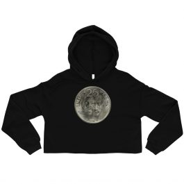 Dah Shinin' 25th Anniversary Coin Women's Crop Hoodie