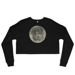 Dah Shinin' 25th Anniversary Coin Women's Crop Sweatshirt