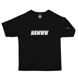 NAWWW White Letter Champion T-Shirt